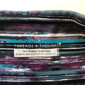 Purple & blue striped Threads 4 thought leggings